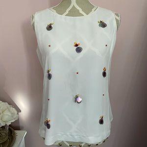Brand new embellished white blouse
